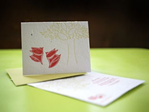 Plantable Wedding Card from roundrobinpress.com
