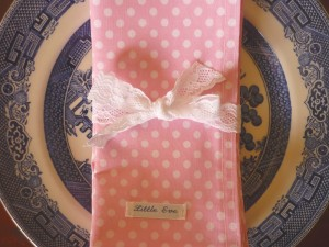 Little Eve Pink Polka Dot Napkins