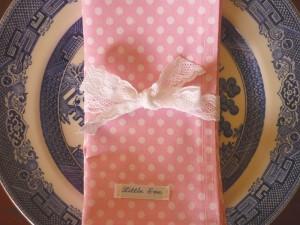 Little Eve Pink Polka Dot Napkins
