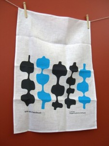 My favourite Spin Spin Hand made tea towel.