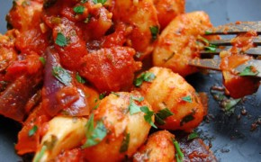 Meat Free Mid Week Recipe – Pumpkin Gnocchi with Tomato Olive Sauce