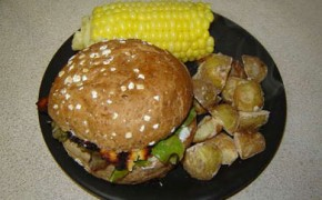 Meat Free Mid Week Recipe – Portobello Mushroom with Grilled Feta Burger