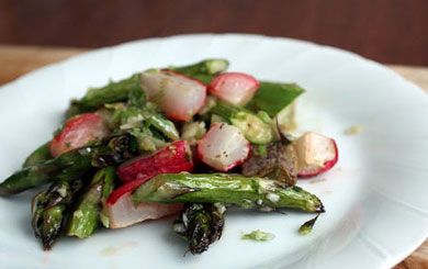 Meat Free Mid Week Recipe – Roasted Radish and Asparagus Salad