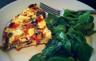 Meat Free Mid Week Recipe – Frittata with Asparagus, Tomato, and Fontina