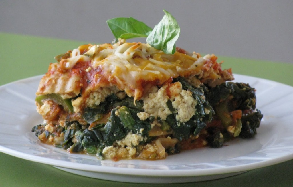 "... Week Recipe – Whole Wheat Lasagna with Italian ""Sausage"" and Pe..."