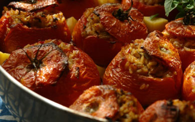 Meat Free Mid Week Recipe – Summer Stuffed Tomatoes with Fennel