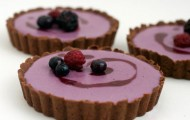 Berry Creme Tart With Cocoa Olive Oil Crust Valentines Day Dessert