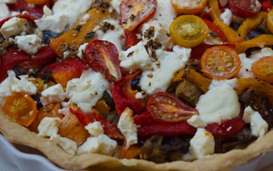 Meat Free Mid Week Recipe – A Very Full Vegetable Tart