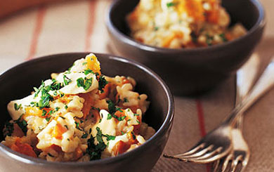 Meat Free Mid Week Recipe – Honey-baked pumpkin risotto
