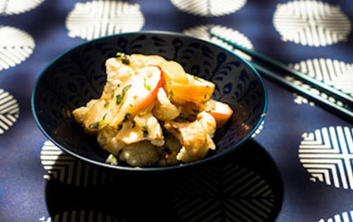 Mid Week Meat Free Recipe – Spicy roasted cauliflower with sweet apple and cumin