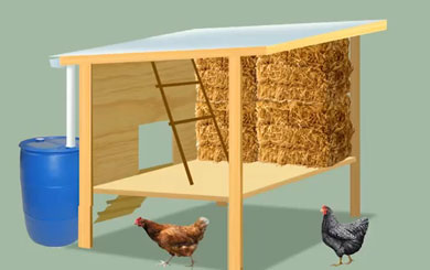 DIY Strawbale Chicken Coop